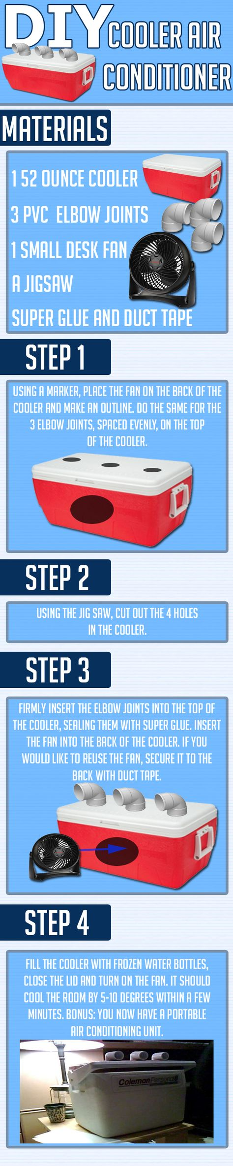 DIY Cooler Air Conditioner- you just might need this for #FasterHorses in July!