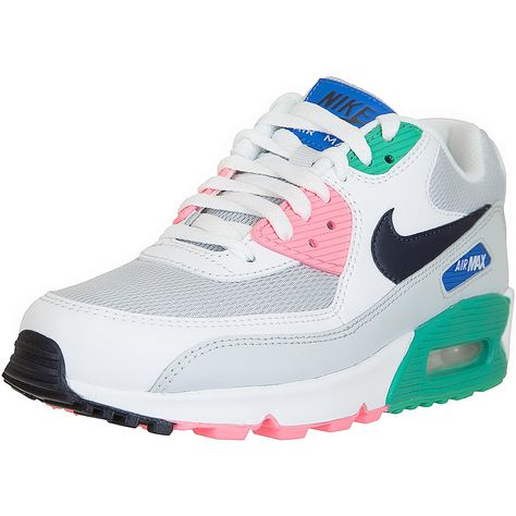 ☆ Nike Damen Sneaker Air Max 90 Essential weiß/pink/grün ...