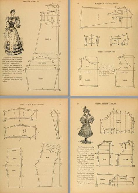 86 VICTORIAN DRESS PATTERNS Design Your Own Theatre Costumes | Etsy