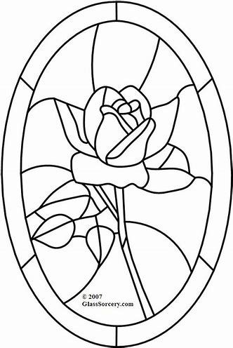 Stained Glass Patterns Flowers Icin Resim Sonucu Stained Glass Rose Stained Glass Patterns Stained Glass Patterns Free