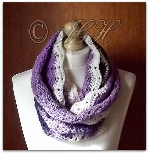 """AG Handmades: """"Charlotte"""" Infinity Scarf with Buttoned Band"""