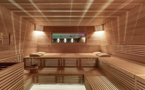 Commercial building sauna ECLIPSE Starpool サウナ Pinterest - schlichtes sauna design holz seeblick