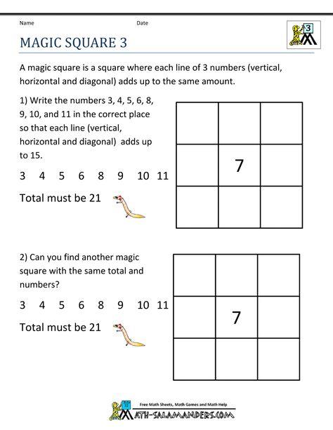 18 Best Third Grade Math Puzzles Ideas Third Grade Math Puzzles, Third  Grade Math, Maths Puzzles