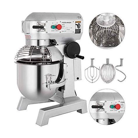 Happybuy Commercial Food Mixer 15qt 600w Dough Mixer Maker 3 Speeds Adjustable Commercial Mixer Grinder In 2020 Electric Foods Food Stands