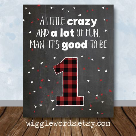 Little Lumberjack Party Decor, Little Lumberjack First Birthday, 1st Birthday Chalkboard Sign by WiggleWords