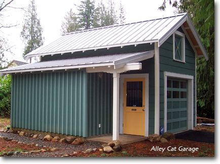 Wonderful Really Cute Detached Garage!! Looks Like It Has A Loft And A Workspace.