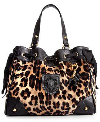 Juicy Couture Handbag, Leopard Velour Daydreamer - Handbags & Accessories - Macy's