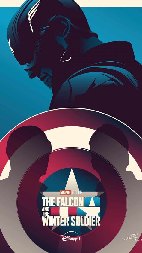 Falcon And Winter Soldier Minimal - IPhone Wallpapers