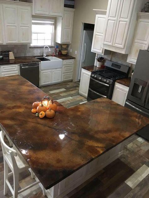 Concrete Countertop Overlay Remodelacion De Cocinas Cocina De