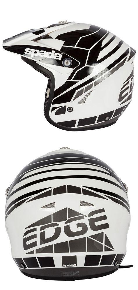 Spada Edge Chaser Motorcycle Helmet Black and White