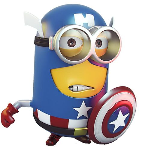 Minion Captain America Funny men T-Shirts & Hoodie