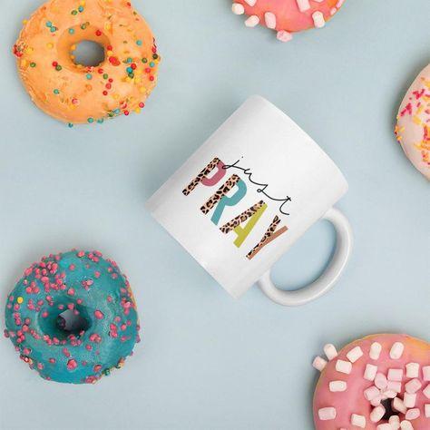 Just Pray Christian mug Christian Mug Coffee Mug Tea Mug   Etsy