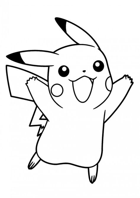 Pikachu Coloring Pages Happy Face Pokemon Malvorlagen Pokemon