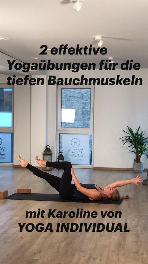 2 effektive Yogaübungen für die tiefen Bauchmuskeln