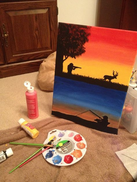 Painting Ideas On Canvas For Boyfriend Painting Ideas On Canvas Cute Canvas Paintings Canvas Painting Diy Cute Paintings