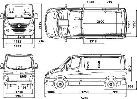 Mercedes Sprinter Dimensions Voiture Galerie Mercedes Sprinter Mercedes Dimension Voiture