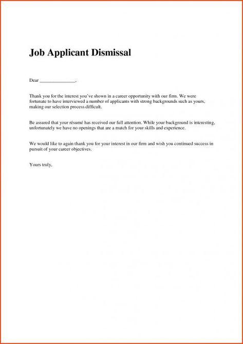 Job Offer Rejection Letter Job Offer Job Rejection Rejection