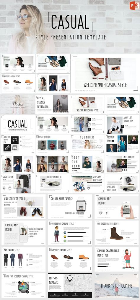 Casual Powerpoint Presentation Template