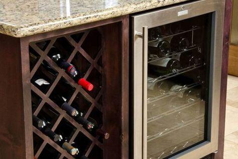 Casier A Bouteilles Cave A Vin Et Refroidisseur Dans La Cuisine