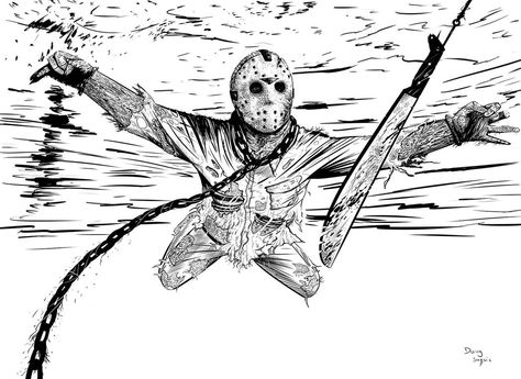Jason Friday The 13th Nirvana Nevermind By Dougsq Desenhos Para