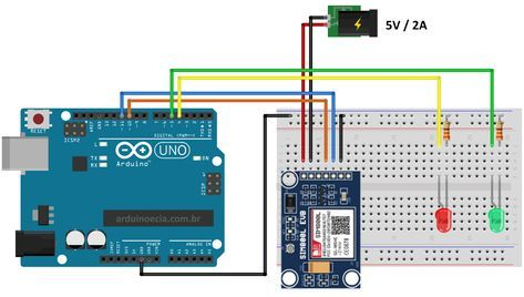 Controle O Arduino Por Sms Com O Sim800l