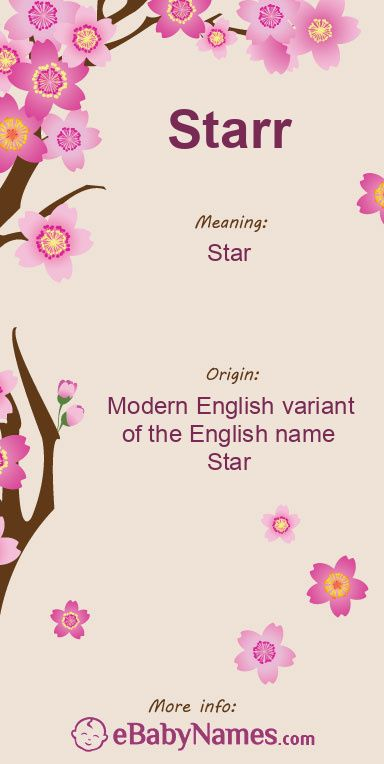 The Origin Meaning Of The Name Starr In 2021 Baby Name List Japanese Names And Meanings Names