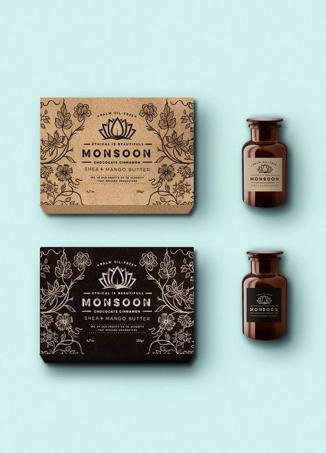 Monsoon packaging and label designs by Martis Lupus.