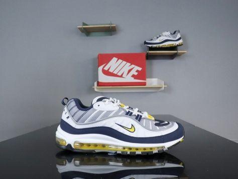 Nike Air Max 98 Tour Yellow Midnight Navy White 640744 105