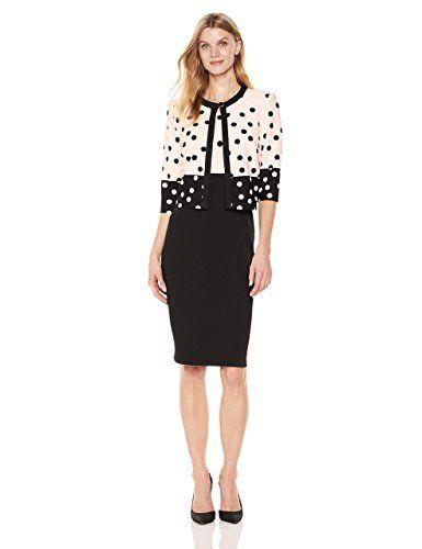 117bf673ba0c7 Danny and Nicole Women's Polka Dot Jacket Dress at Amazon Women's ...