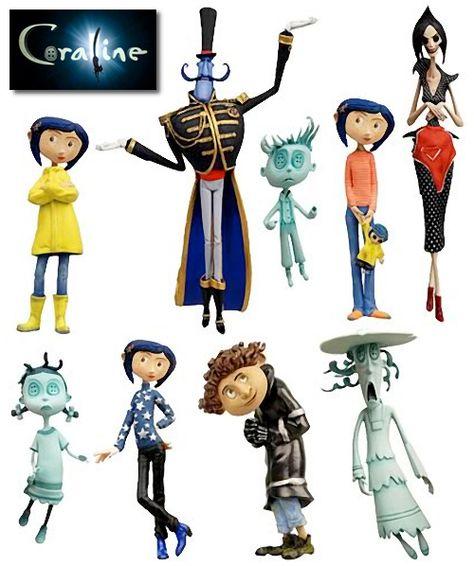 Coraline movie characters. Just Wonderful. Creative Art and Movie.