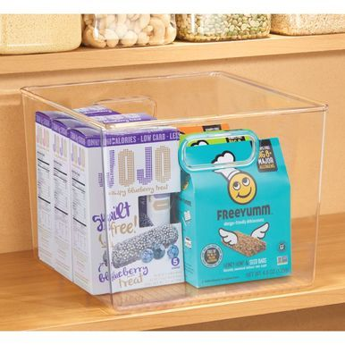 Kitchen Pantry Food Storage Organizer Bin 10 X 10 X 7 75 Food Storage Organization Organizing Bins Food Storage