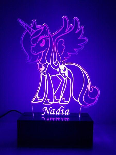 Laser For You My Little Pony Princess Luna LED Lamp Night