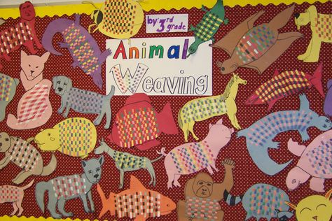 Animal weavings. This one turns out great. I usually do it with 3rd graders!