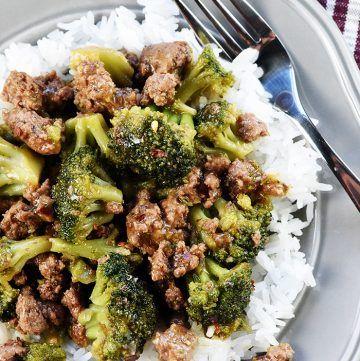 Delicious Ground Beef Broccoli Fivehearthome In 2020 Ground Beef And Broccoli Broccoli Beef Healthy Beef And Broccoli