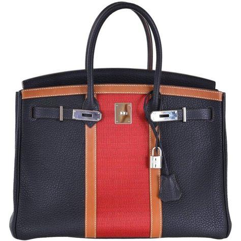 80cf1cc611f Preowned Hermes Birkin Bag Club 35cm Indigo   Barenia Combo Pre-loved...  ( 21