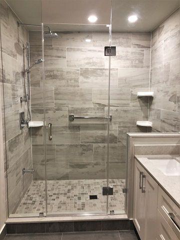 North York Walk In Shower Complete Bathroom Renovation By Lampert Renovations In Toront Complete Bathroom Renovations Bathroom Renovation Complete Bathrooms