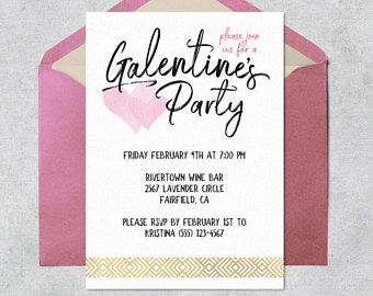 Printable Galentine S Day Invitation Instant Download Customizable And Printable Galentine S Party Invitatio Galentines Day Ideas Galentines Galentines Party