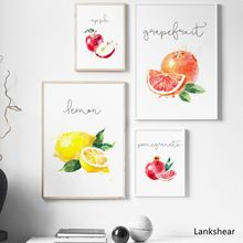 Apple Lemon Pear Fruit Kitchen Wall Art Canvas Painting Nordic Posters And Prints Cartoon Wall P In 2020 Kitchen Decor Wall Art Kitchen Painting Art Kitchen Canvas Art