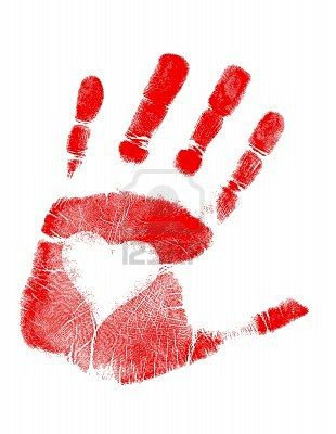 Put a paper heart/sticker in the center of your child's palm AFTER you paint their hand... then press to paper! Frame one for each child.  Perfect for The Kissing Hand!