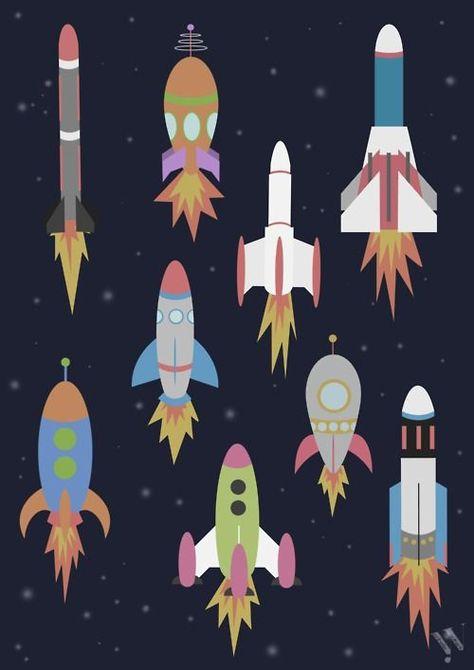 Space Rocket Ship Patterns