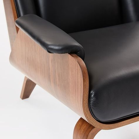 Amazing Malcolm Bentwood Leather Ottoman Pabps2019 Chair Design Images Pabps2019Com