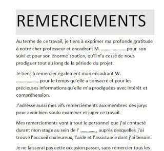 Modèle Remerciement Rapport De Stage Bts Doc Word