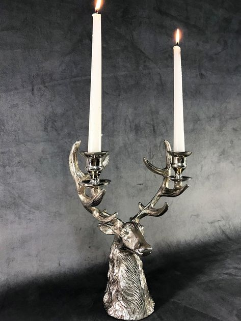 Butler Y Wilson con incrustaciones de cristal estilo grandes Stag Deer Head /& Cuernos Broche