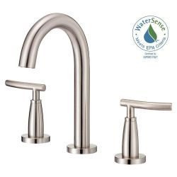 255 Danze Sonora 4 In 2 Handle Minispread Mid Arc Bathroom Faucet In Brushed Nickel Lavatory Faucet Bathroom Faucets Widespread Bathroom Faucet