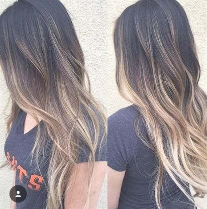 Image Result For Straight Dark Brown Hair With Blonde Highlights Ombrehaircolorforbrunettes Black Hair Balayage Balayage Long Hair Brown Blonde Hair