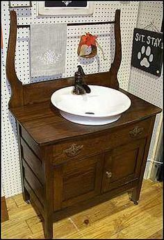 Plumbed In Washstand Google Search Shabbychicbathrooms