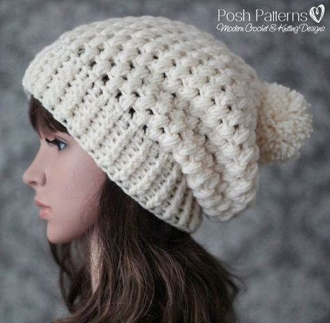 4fe7cafc2c7 This is a CROCHET PATTERN ONLY--NOT A FINISHED PRODUCT. This elegant  crochet hat pattern features a fun stitch design and a comfy slouchy style.
