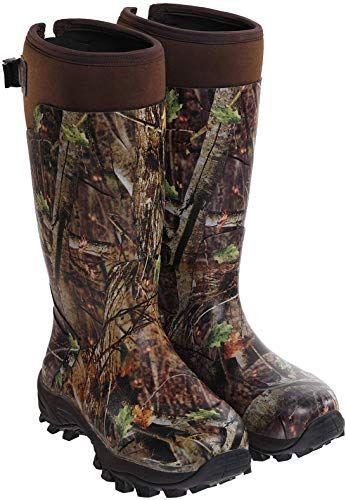 Buy Hisea Hunting Boots Men Waterproof Insulated Rubber Boots Rain Boots Neoprene Mens Boots Online In 2020 Insulated Rubber Boots Hunting Boots Boots