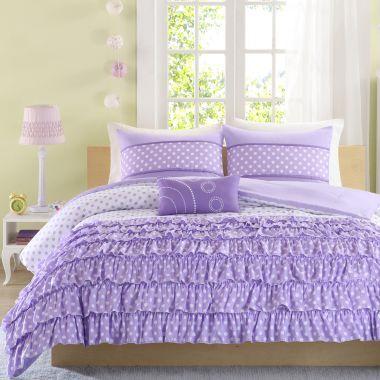 Mizone Ellen Ruffled Polka Dot Comforter Set  found at @JCPenney
