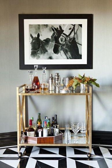 21 of the best bar trolleys: Gerard 'Gold Leaf Bar Cart' from Regency Distribution, POA.